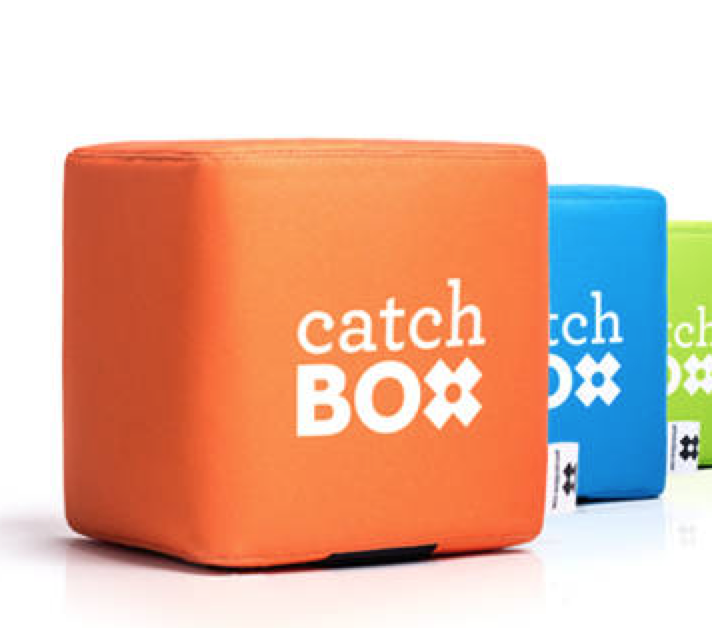 The CatchBox microphone