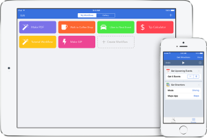 Workflow supports iPad and iPhone