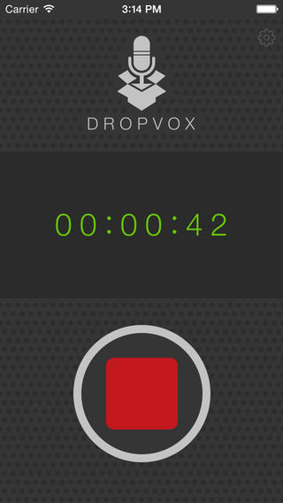 Recording interface for DropVox